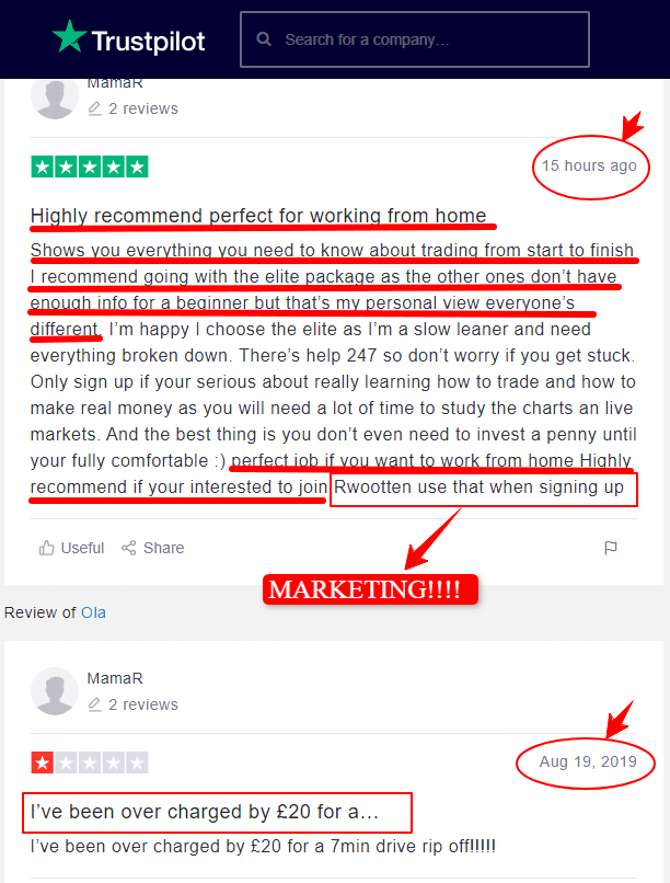 Is imarketslive a scam: bad review, then positive review: fake review at all
