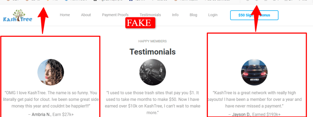 Is Rain Money a scam: Rain money using Kash tree image to lure people