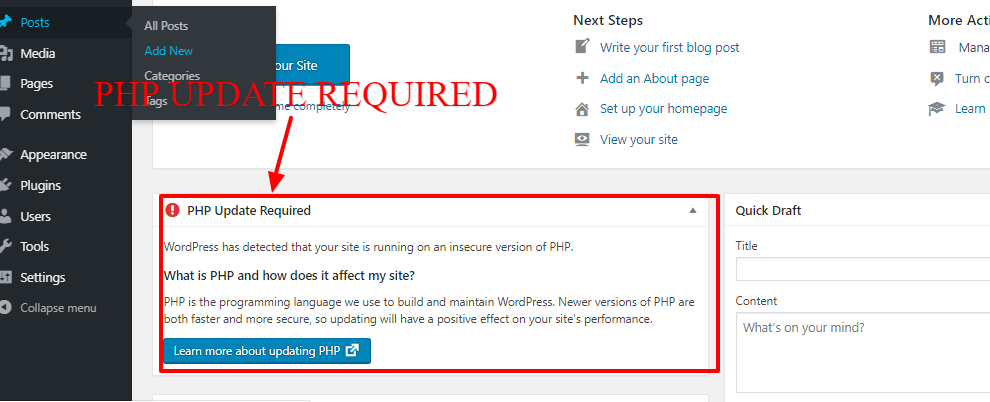 IS GDI a scam: Their server PHP update message