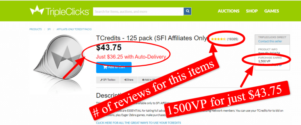 SFI Affiliate center review: product are overpriced