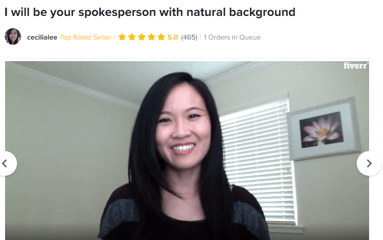Perpetual income 365 review: using   female Spokesperson on Fiverr to lure people