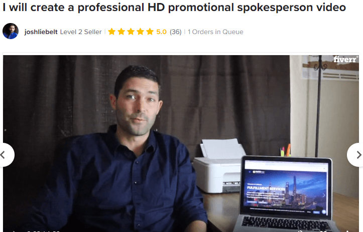 Perpetual income 365 review: using Spokesperson on Fiverr to lure people