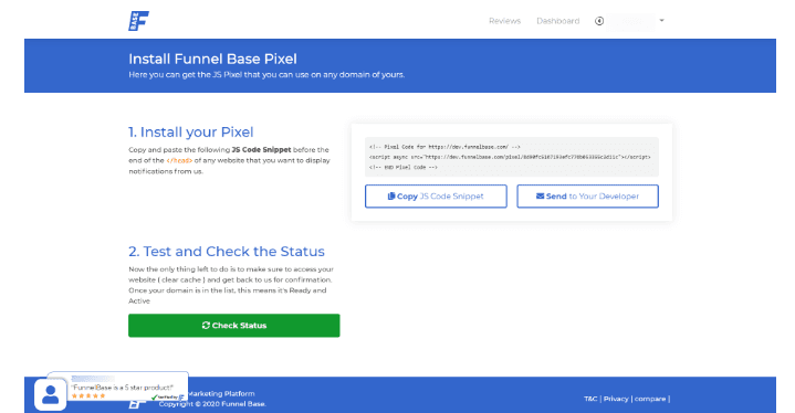 Funnel base review: how to connect it to your website