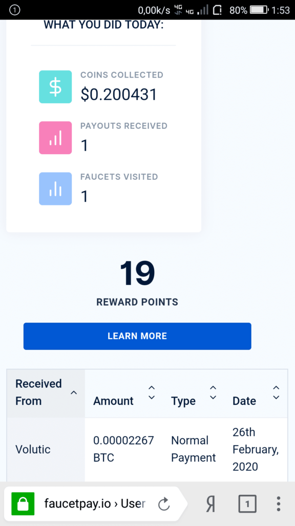 Volutic payment proof from FoxRating.com