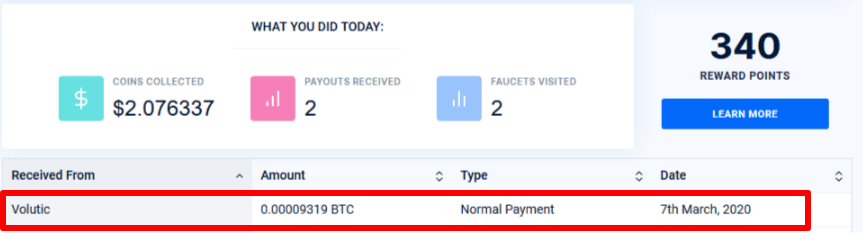 Volutic review:payment proof from BMF