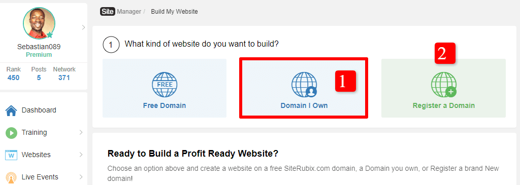 Ecommerce website setting up process: choose a domain name
