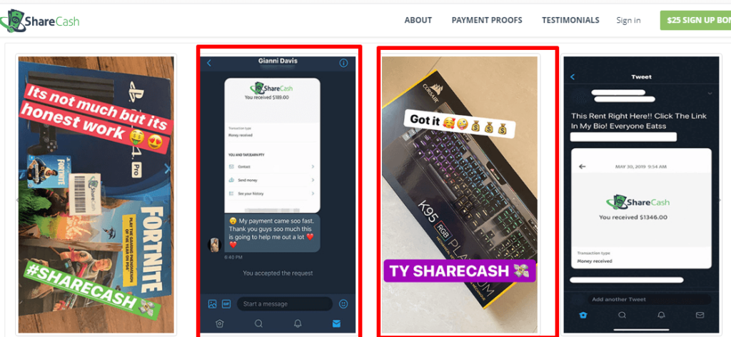 Rewarddollars.co use fake payment proofs as Share cash