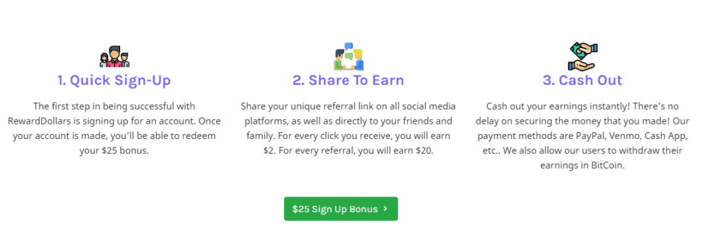 What is rewarddollars.co:  this image explain how does it work