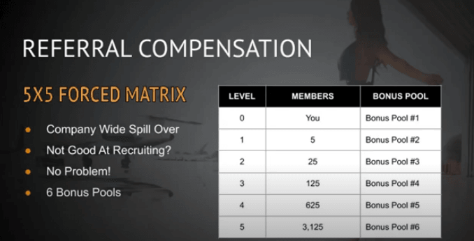 Lifestyle Marketing Group review: their 5x5 forced matrix compensation plan