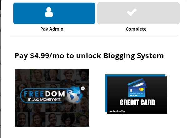 Freedom In 365 blogging system product