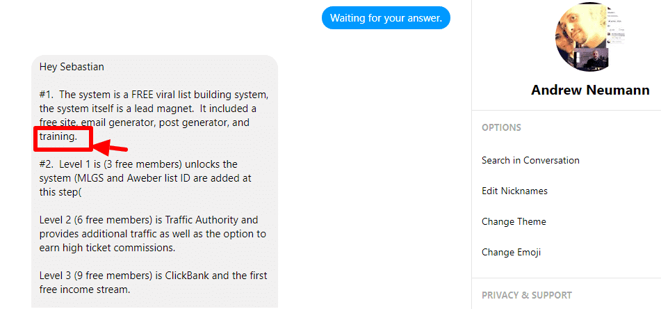 My conversation with the ELM owner