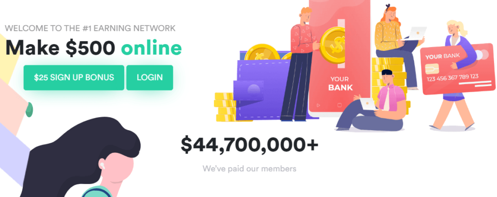 GoEarn review: home stating users can make $500 a day
