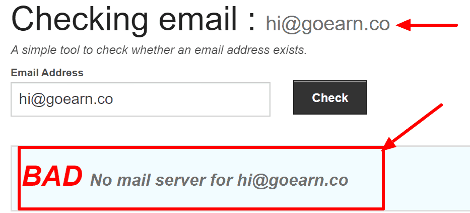 GoEarn.co review: Their support email address doesn't exist