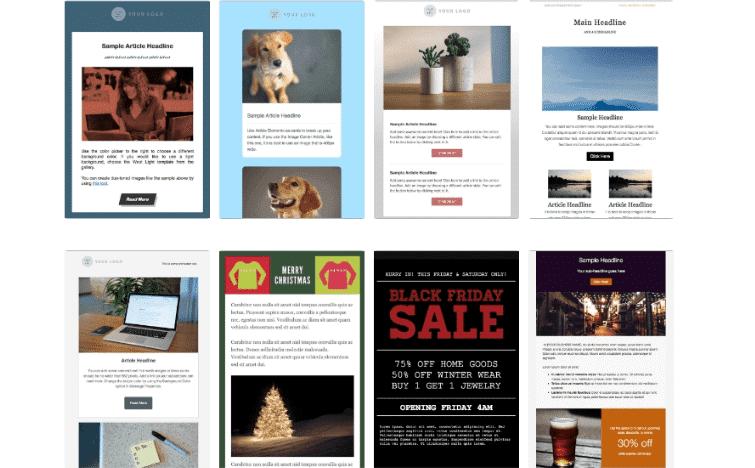 Aweber email templates