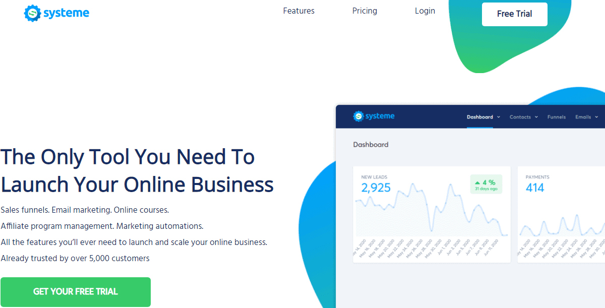systeme.io  home page