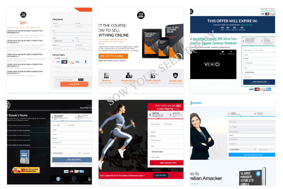 Systeme.io review: Systeme.io sales funnels templates