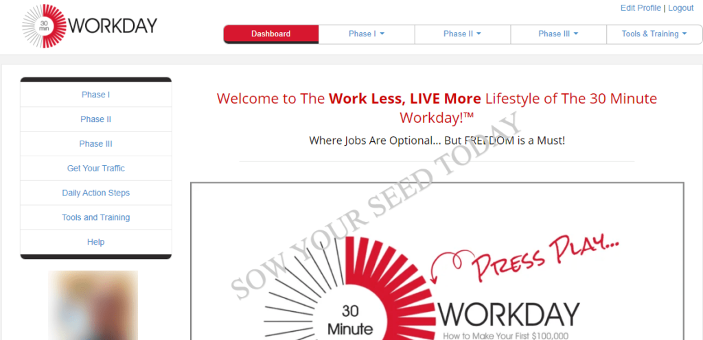 30 Minute Workday review: my dashboard