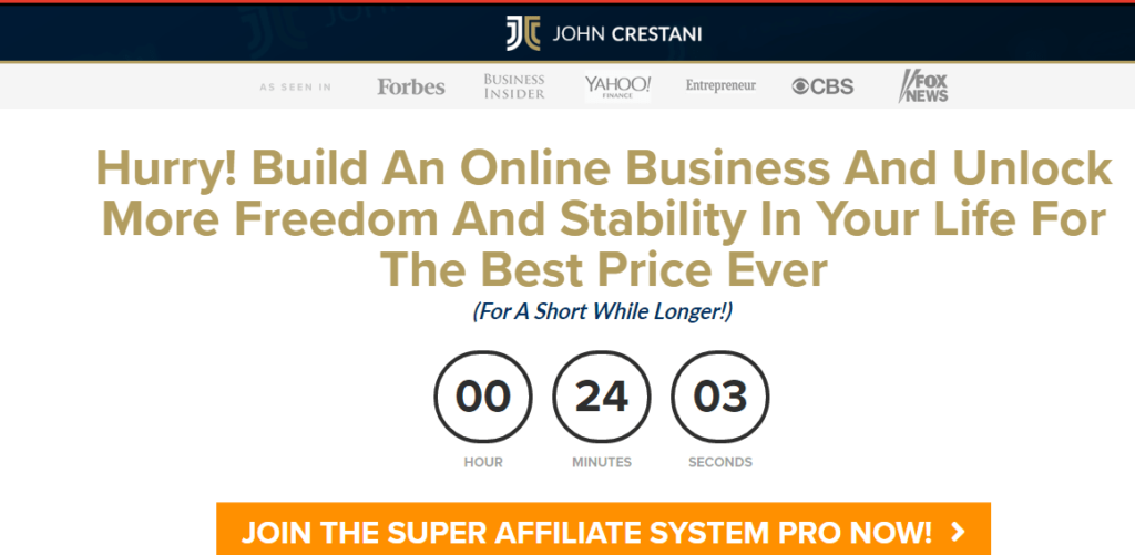 Super Affiliate System home page