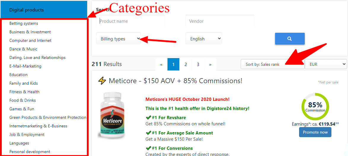 How to man money with Digistore24 - products