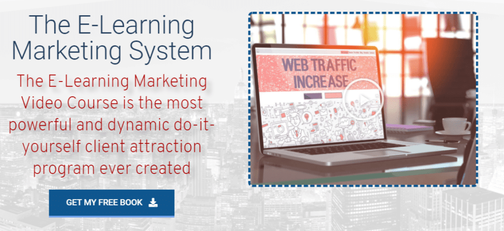 E-learning Marketing System review: Home page
