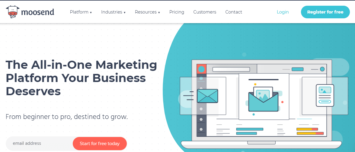 best email marketing tools for small businesses and bloggers - moosend