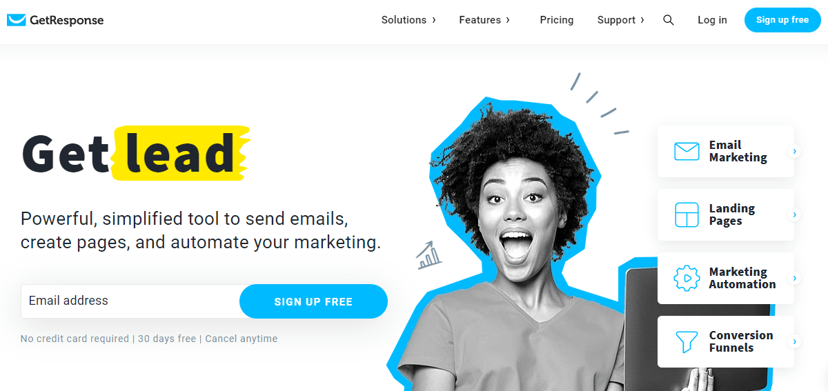 Getresponse- best email marketing tool for start-ups