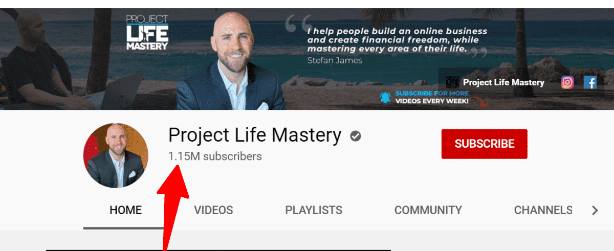 Affiliate Marketing Mastery review - Stefan James's YouTube channel