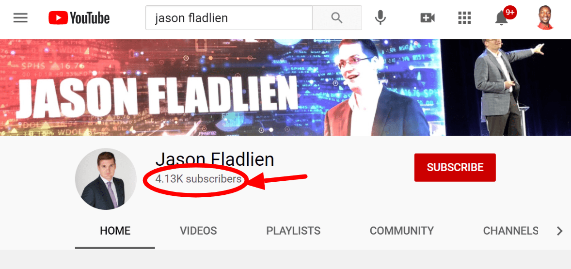 Jason Fladlien's YouTube channel