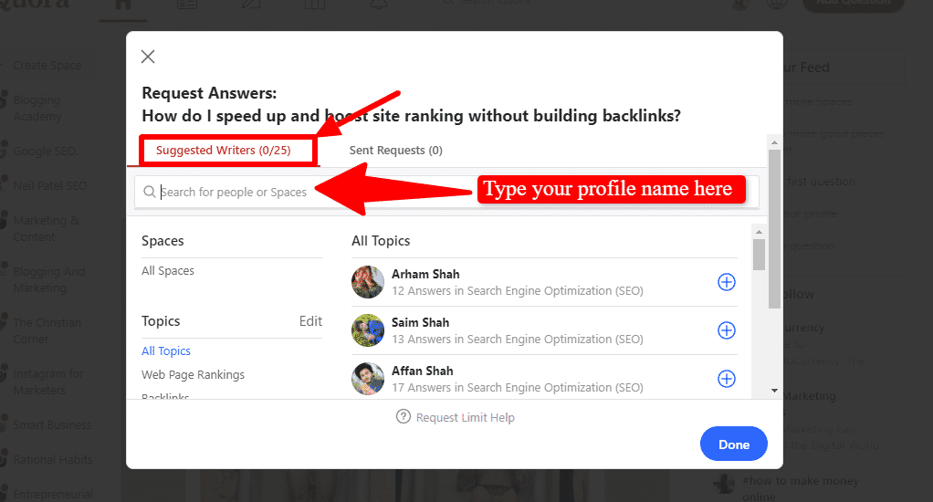 A screen that shows to ask a question on Quora the right way