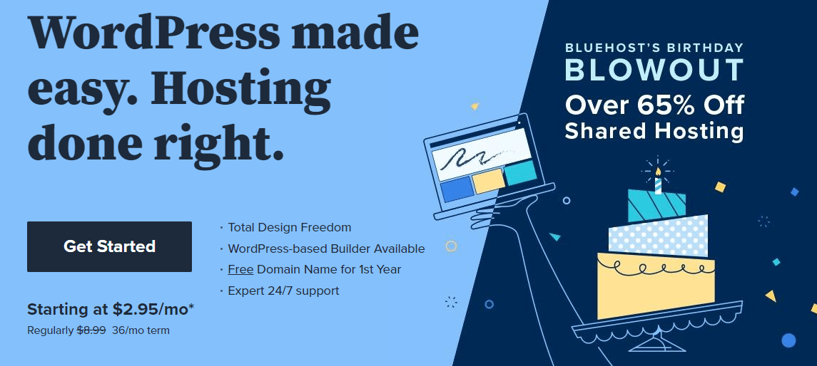 Best web hosting for small businesses - Bluehost
