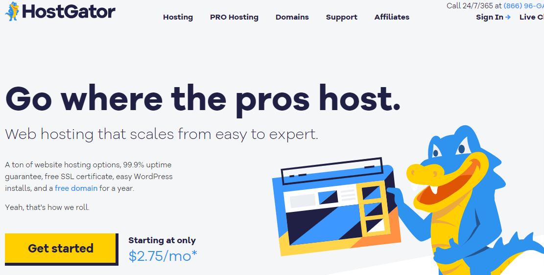 Cheaper Web Hosting Service provider - HostGator