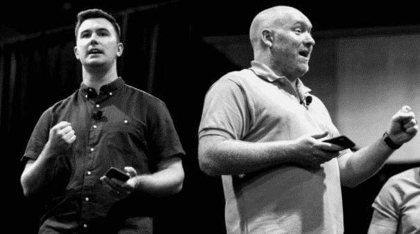 Marketplace Superheroes owners, Robert Rickey, and Stephen Somers
