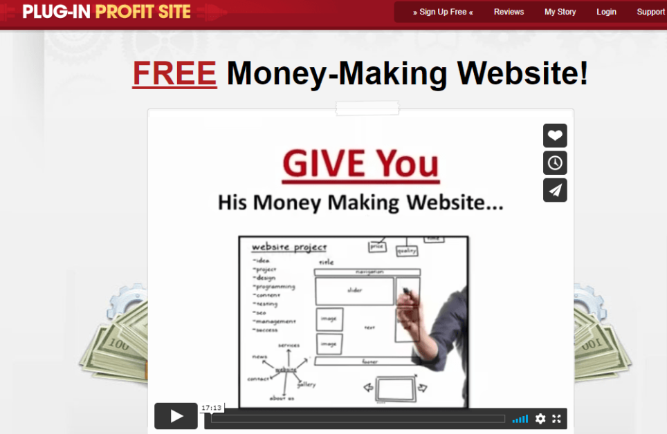 Plug-In Profit Site scam home page