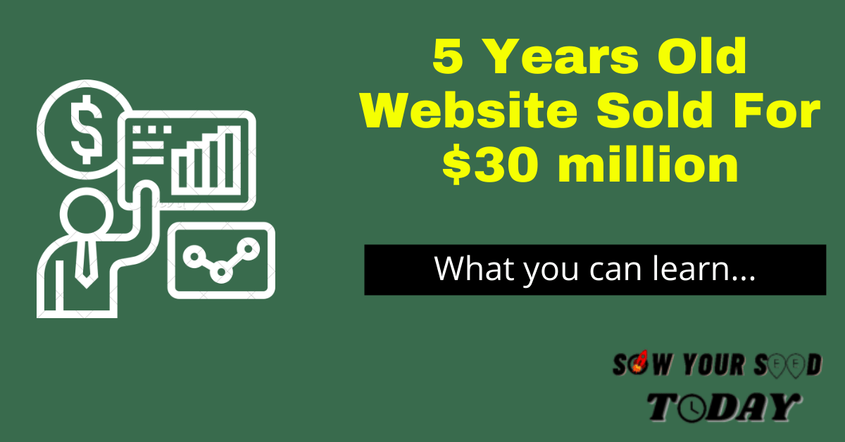 Website Sold For Million Dollars
