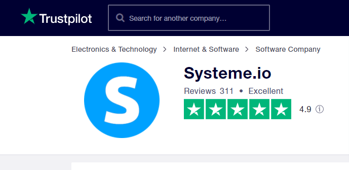 Ssyteme.io customers reviews on Trustpilot
