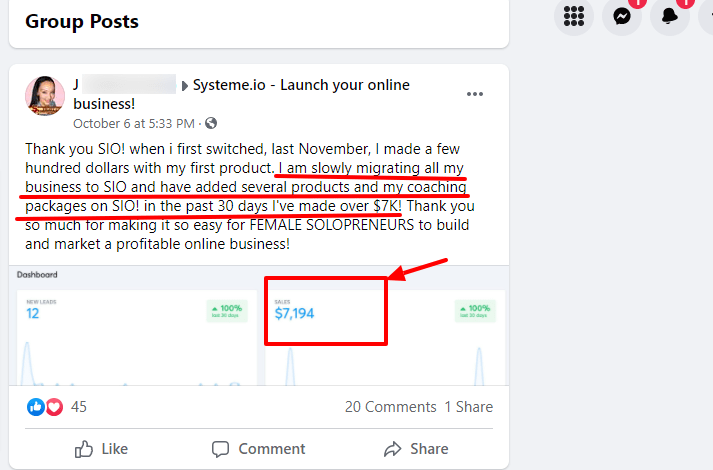 Systeme.io success stories